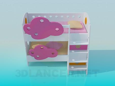 3d model Twofloor crib - preview