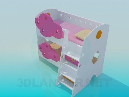 modelo 3D Twofloor cuna - escuchar