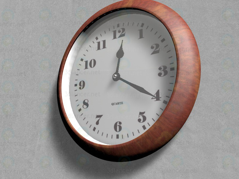 3d model Office wall clock - preview