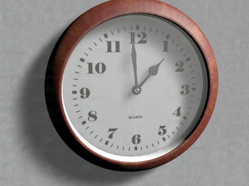 modelo 3D Reloj de pared de oficina - escuchar