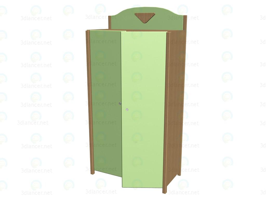 3d model kleiderschrank f r kinder 63ksh01 63fs05. Black Bedroom Furniture Sets. Home Design Ideas