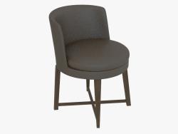 Cadeira em uma moldura de madeira Poltroncina da tavolo