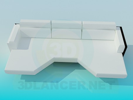 modelo 3D Excéntrico sofá - escuchar