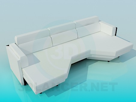 3d model Eccentric couch - preview