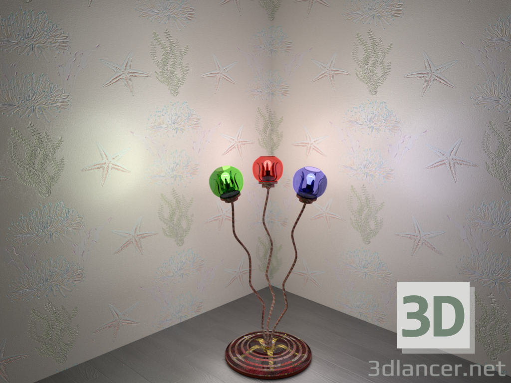 "3d Floor lamp ""Starfish"" model buy - render"