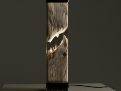 Epoxy and wood luminaire