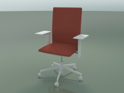 High back chair 6503 (5 castors, with removable padding, adjustable 3D armrest XL, V12)