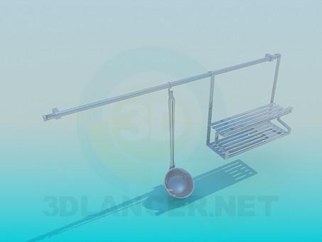 modelo 3D Utensilios de cocina - escuchar