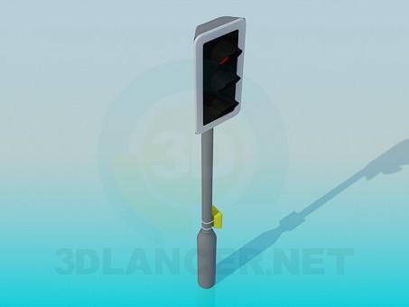 3d модель Светофор – превью