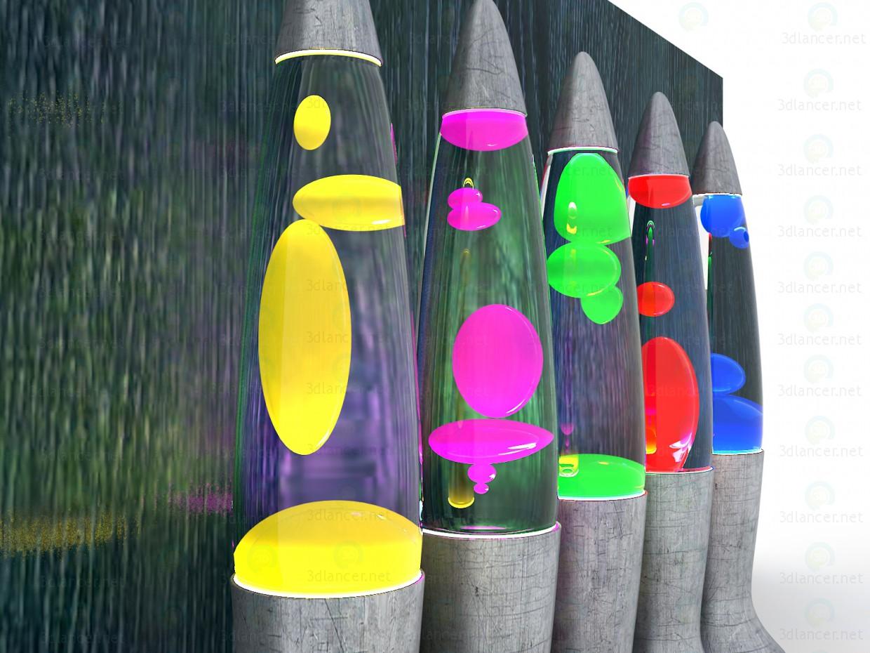 """Luces de """"Inicio"""", modelo """"lava"""" 3D modelo Compro - render"""