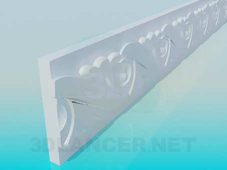 modelo 3D Baguette en el techo - escuchar