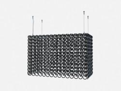 Потолочный светильник в стиле арт деко Crystal chandelier recta