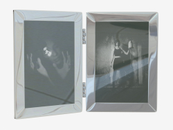 tavolo cornice per foto doppia 18h13sm Chapman (108200)