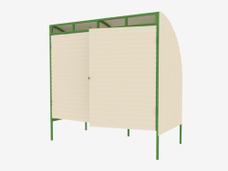 Canopy for 2 containers MSW (9015)
