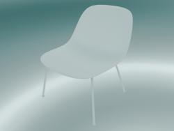 Chaise longue con tubi alla base di fibra (bianco)