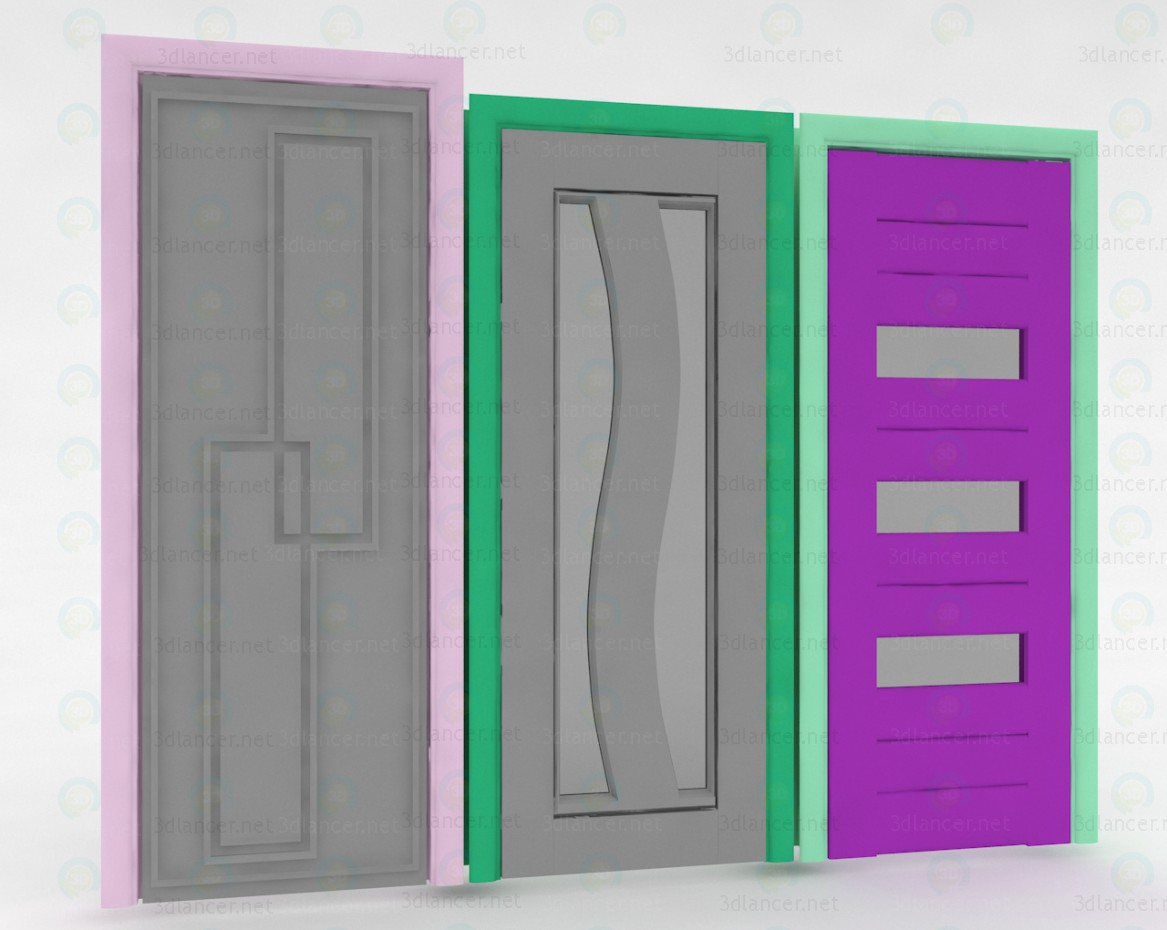 3d modeling Interior Doors model free download