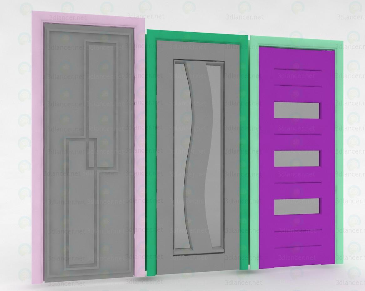 3d модель Внутрішні двері – превью