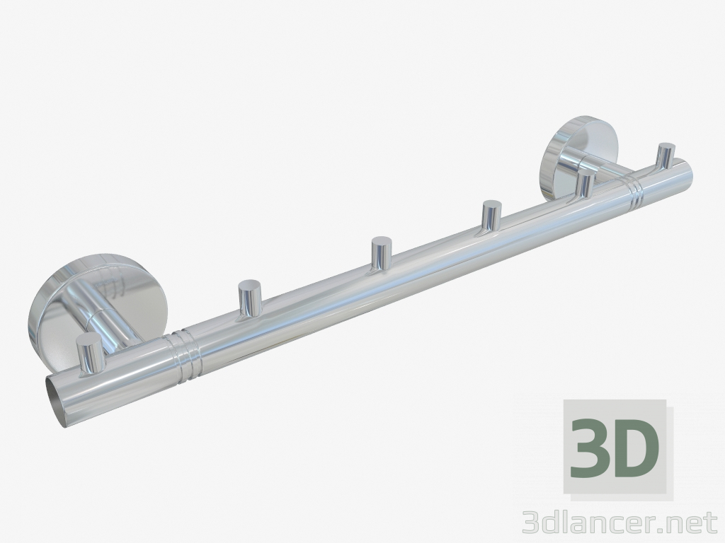 3d model Hanger CANYON 6 hooks (L 320) - preview