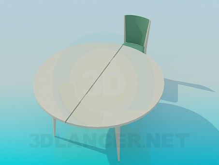 3d model Mesa redonda plegable - vista previa