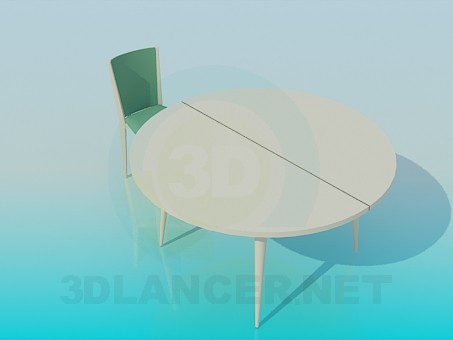 3d model Folding round table - preview