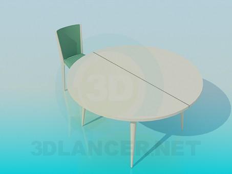 modelo 3D Mesa redonda plegable - escuchar