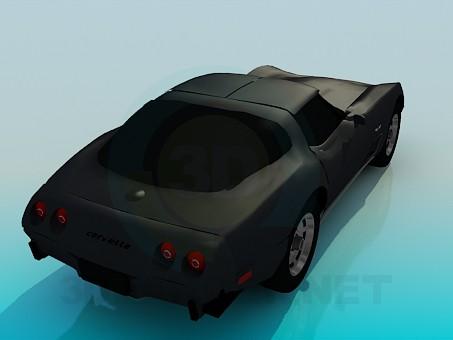 modelo 3D Corvette 1979 - escuchar