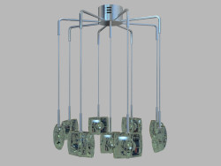 Hanging lamp Ricciolo MD 7124-9A