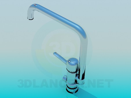 3d model Mixer kitchen sink - preview