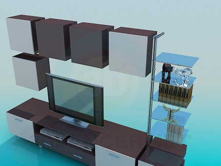 3d model The furniture in the room - preview