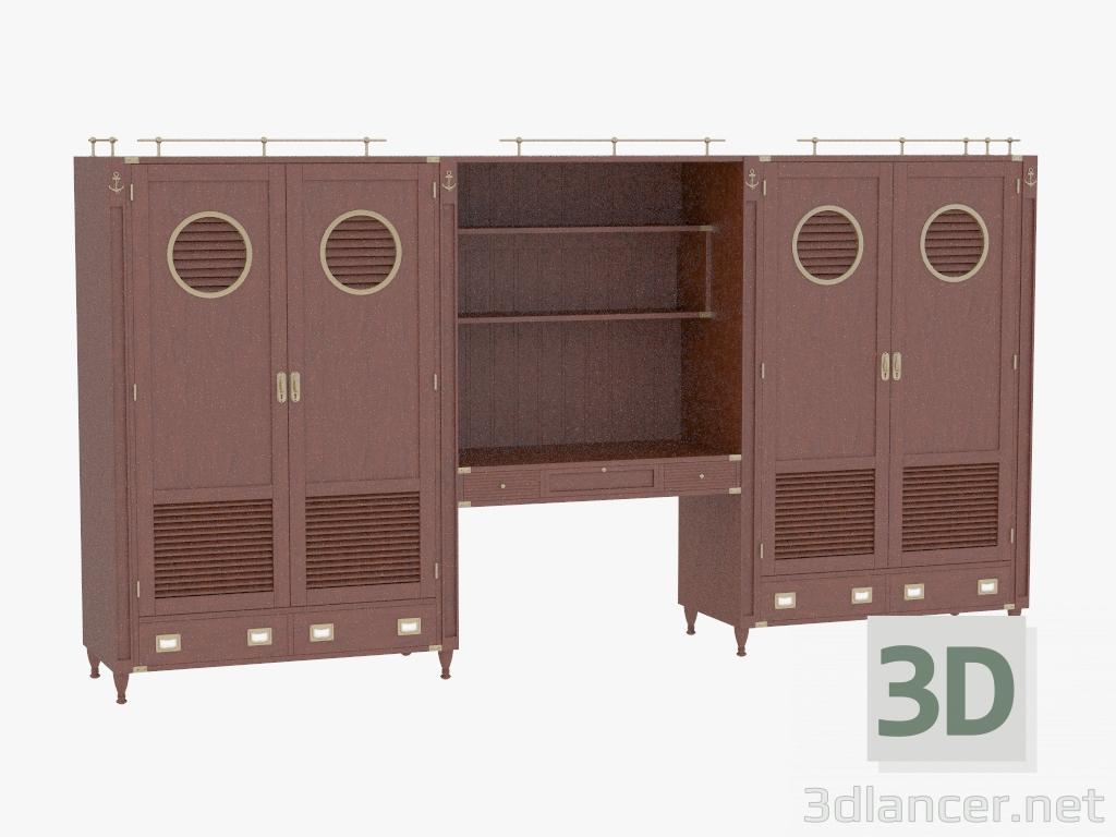 3d моделювання Стенка в морском стиле модель завантажити безкоштовно