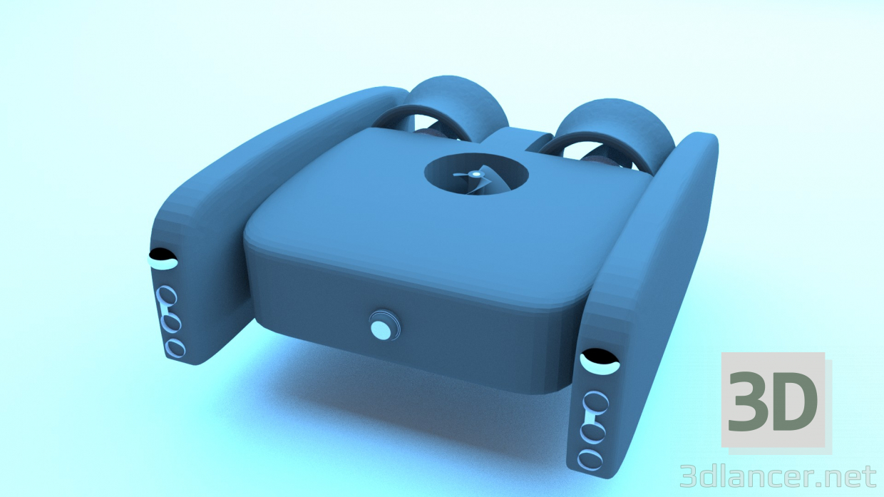 3d model Drone underwater - preview