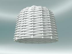 Lampada a sospensione (96, tessuto bianco)