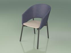 Comfort chair 022 (Metal Smoke, Blue, Polyurethane Resin Mole)