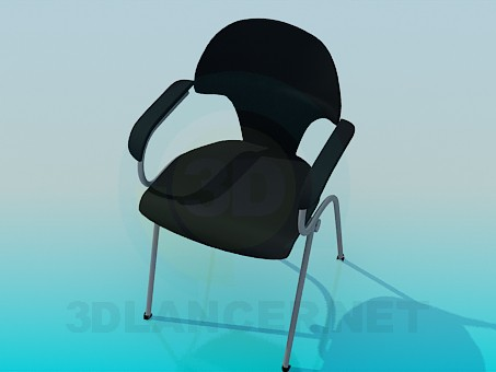3d model Chair with cloth upholstery - preview