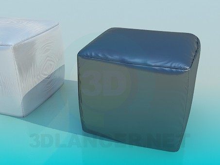 3d model Two pouffes kit - preview