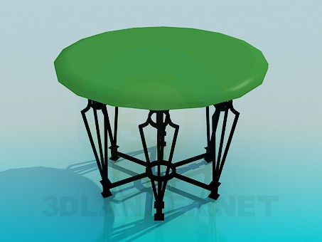 3d model Table with forged legs - preview