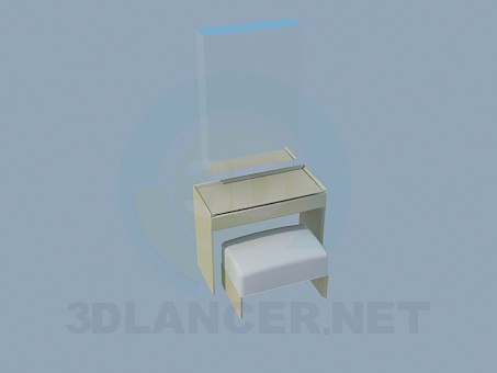 3d modeling Mirror, bedside-table and ottoman model free download