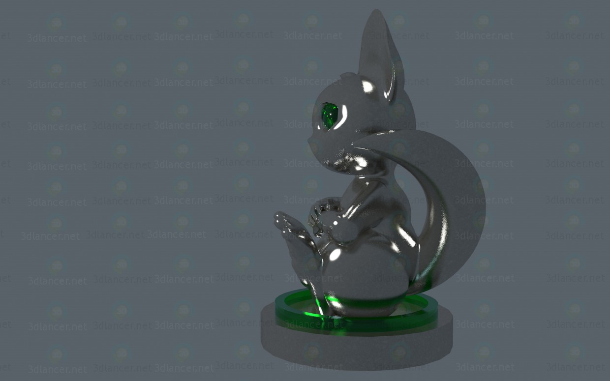 3d Pawn (chess piece) model buy - render