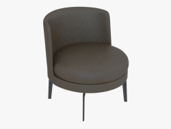 Cadeira em armação de metal Girevole (H 53)