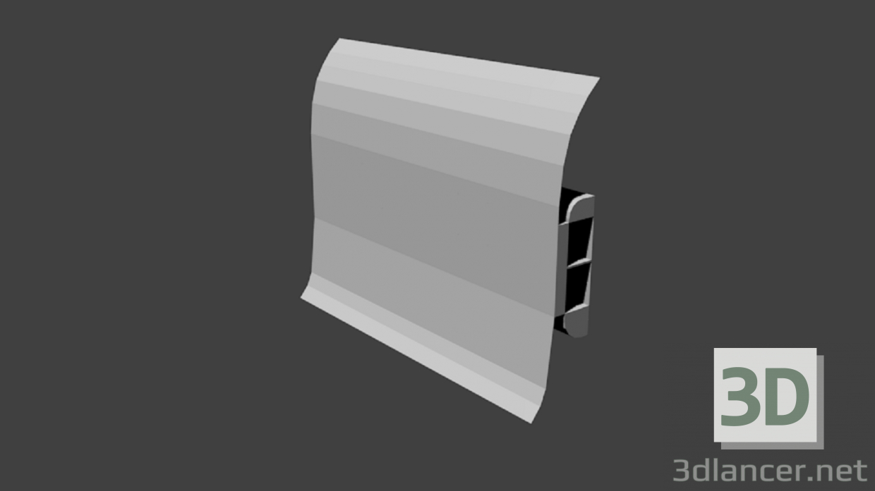 3d model Plinth usual Low Poly - preview