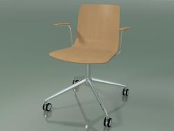 कुर्सी 5916 (कलाकारों पर, आर्मरेस्ट के साथ, ओक)