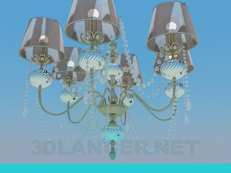 3d model Celebrity classic style chandelier - preview