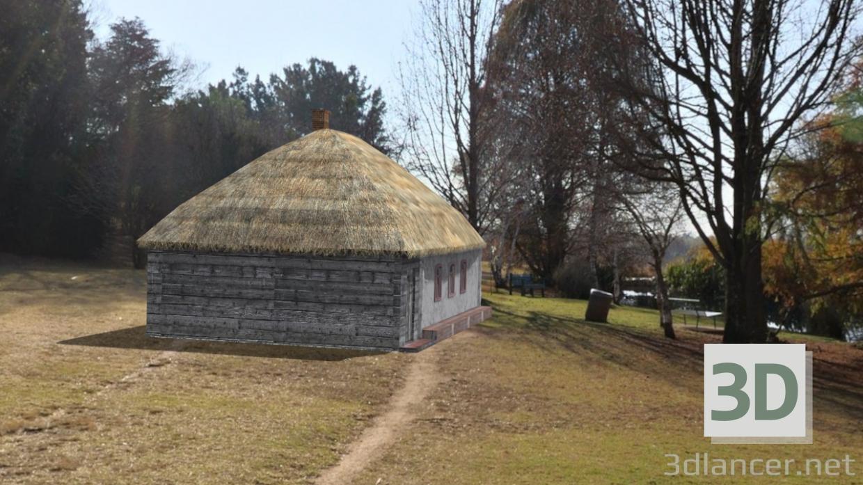 3d model Old hut (Mazanka) - preview