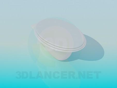 3d моделювання Овальний унітаз модель завантажити безкоштовно
