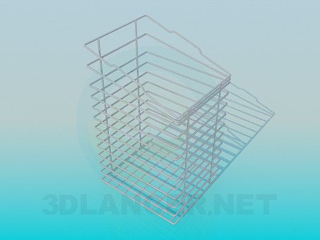 3d modeling Shopping cart-stand for office supplies model free download