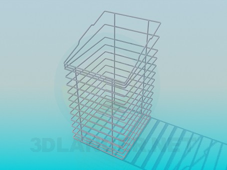 3d model Shopping cart-stand for office supplies - preview