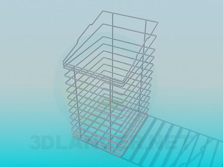 3d модель Корзина-подставка для канцелярских товаров – превью