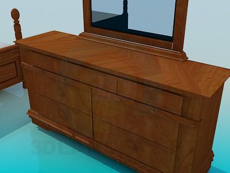 3d модель Комплект мебели в спальную комнату – превью