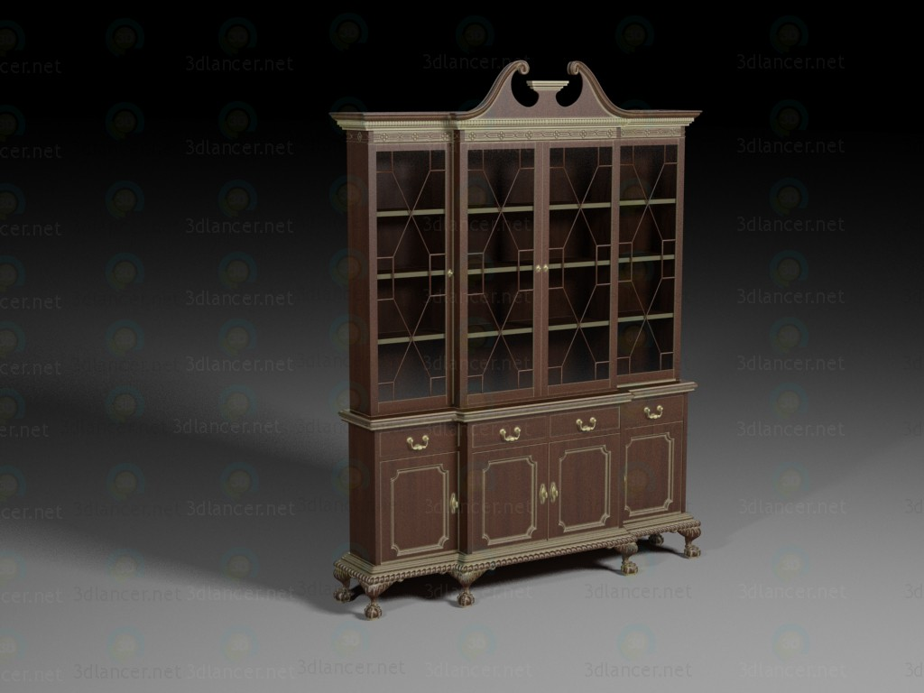 3d model classic closet - preview
