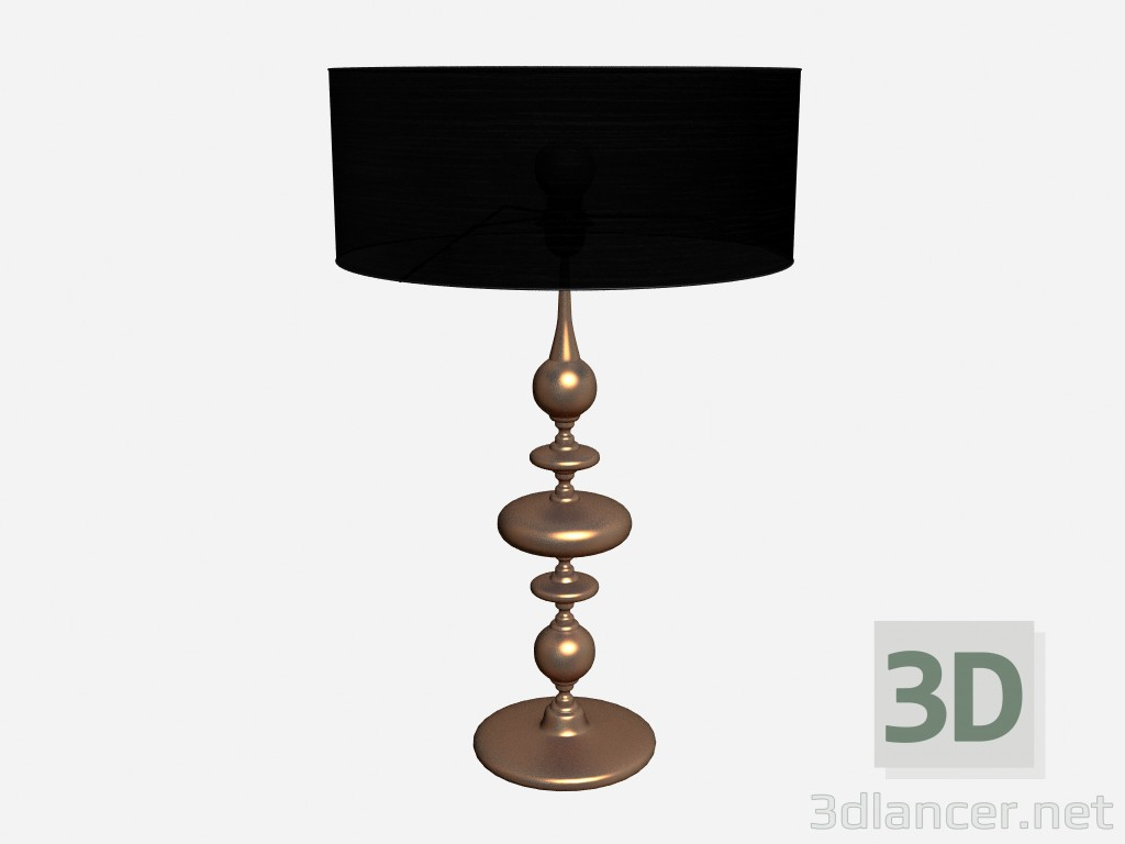3d model Table lamp Ceramic lamp in copper leaf - preview
